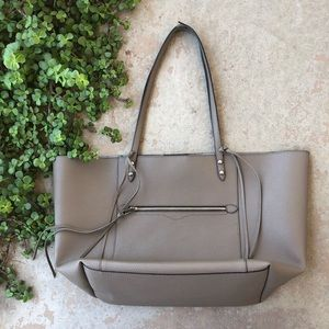 Rebecca Minkoff Large Gray Leather Tote Bag